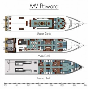 MV Pawara Deck Layouts