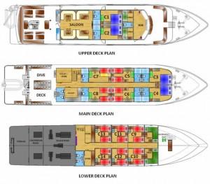 MV White Manta - Deck Plans