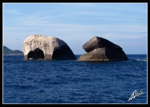 Elephant Head Rock - Similan Islands Thailand. Image by Adriano Trapani.